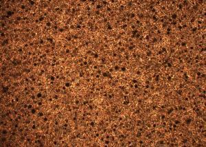 Schliffbild eines ausferritischen Gusseisen mit Kugelgraphit nach Zwischenstufenvergütung für hochbelastete Bauteile aus Eisenguss in kleinen und mittleren Stückzahlen