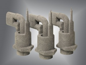 Maschinell gefertigter Sandkern bildet Innengeometrie eines Gussteil für Hydraulik