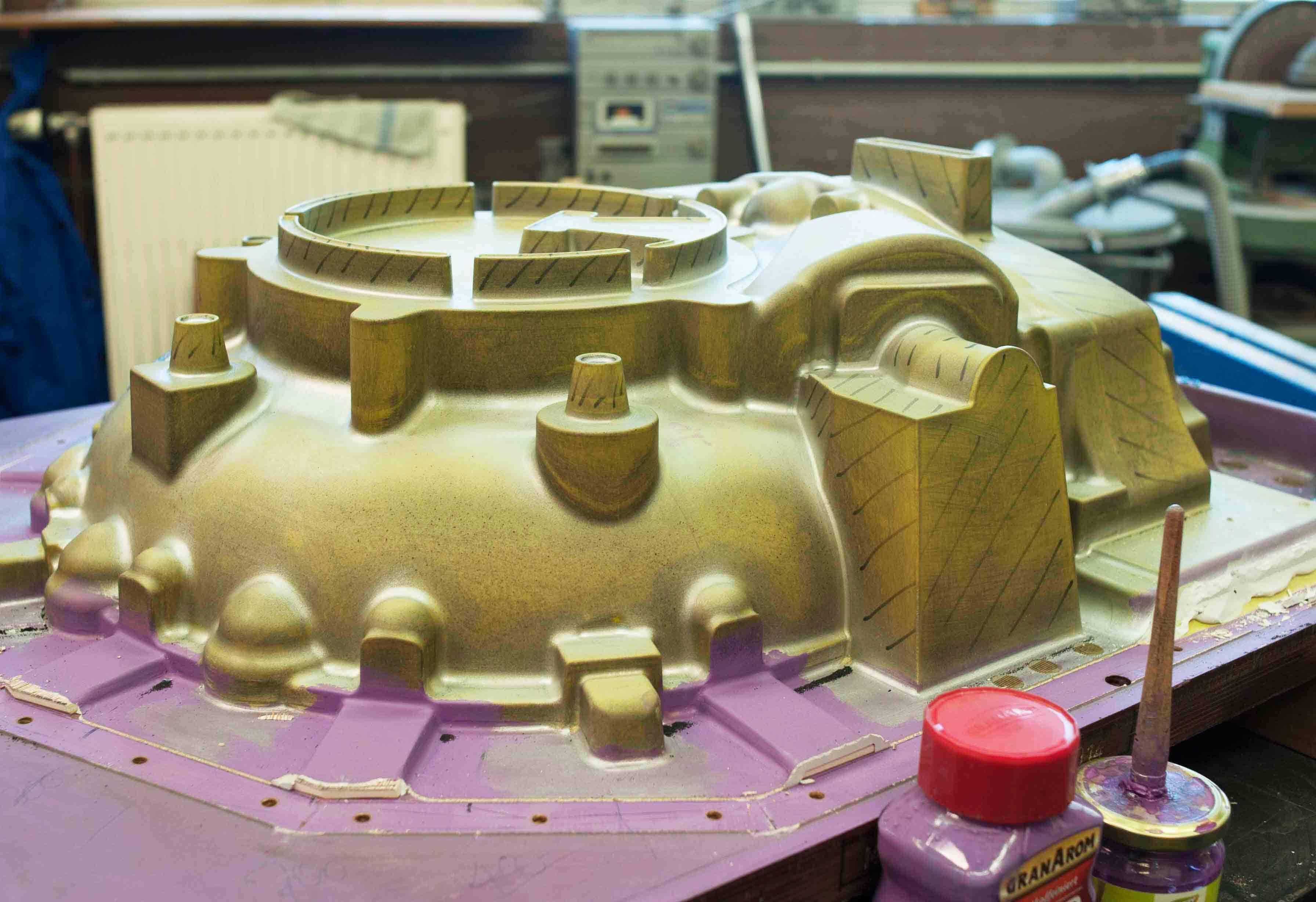 Modellplatte für ein Pumpengehäuse aus Gusseisen mit Kugelgraphit