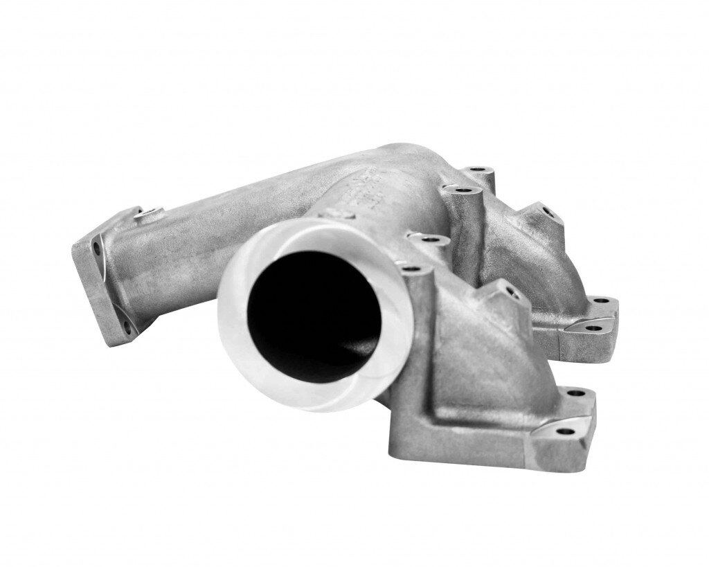 SiMo-casting in exhaust distribution of a shipping diesel for controllable pitch propeller.