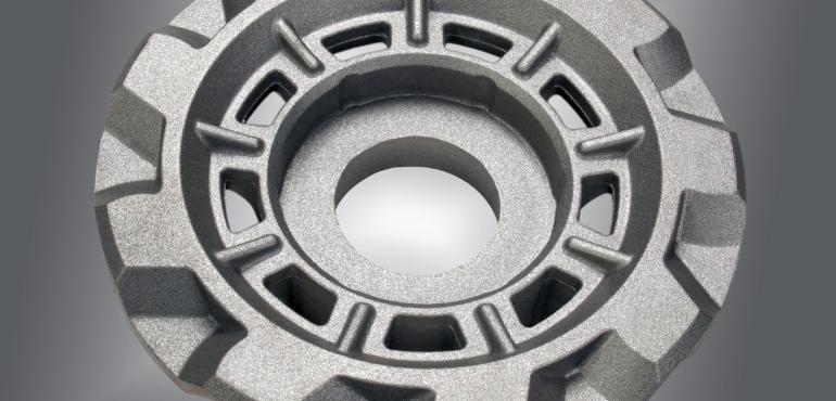 Antriebsrad für Drehführung aus duktilem Eisenguss mit bis 150 kg Stückgewicht.