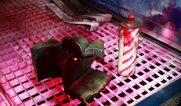non-magnetic iron castings made as Ni-Resist are checked by PT for incipient crack and documented part per part.