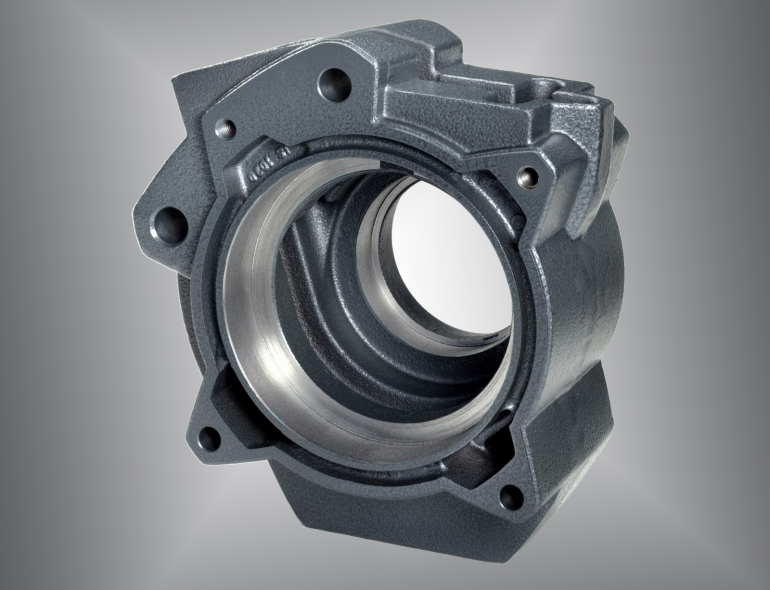 machined parts out of ductile iron and ADI are used in drivetrain technology, materials handling technology and powertrain technology as mechanical high-loaded structural component