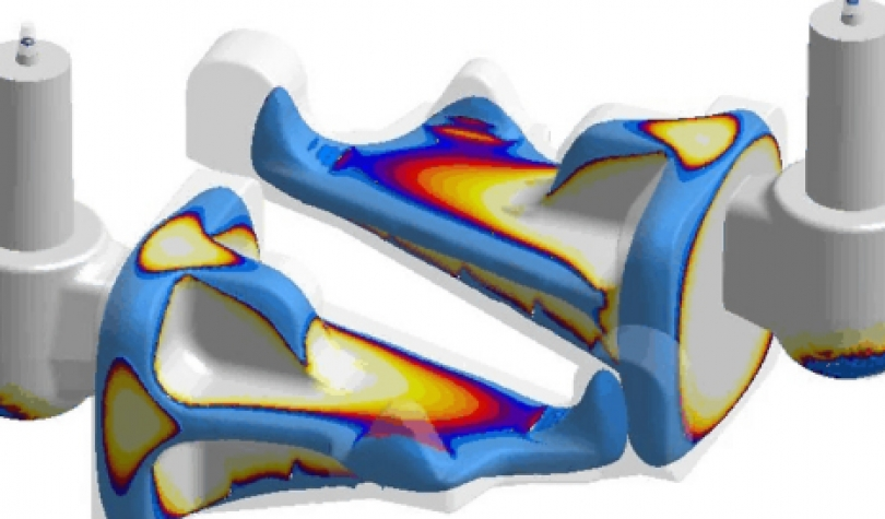 by simulation of the solidification of an iron casting we check, if foundry technology will guarantee that the riser / feeder will solidificate at last